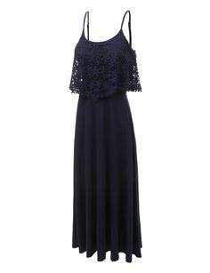 5a6771c7729 LE3NO Womens Sleeveless Maxi Dress with Ruffle Detail India Trip