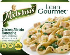 Fettuccine in a savory Alfredo sauce with delicious spinach Florentine and juicy chunks of white chicken. Delicious, satisfying flavor with fewer calories. Chicken Fettuccine, Chicken Alfredo, Alfredo Sauce, Best Frozen Meals, Gourmet Chicken, Spinach Stuffed Chicken, Pasta Salad, Entrees