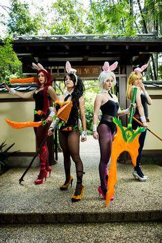 Battle Bunny Riven, Battle Bunny Katarina(Concept), Battle Bunny Nidalee(Concept), Battle Bunny Lux(Concept) From: League of Legends