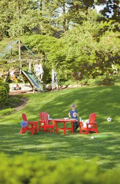 Outdoor furniture from PolyWood, made from recycled milk cartons,can handle anything life - or your little ones - may throw at it. Polywood Outdoor Furniture, Plastic Lumber, Beach Kids, Outdoor Dining Set, Childproofing, South Beach, Little Ones, Recycling, Milk Cartons
