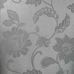 57-51904 Silver Jacobean Trail - Lillith - Kenneth James Wallpaper