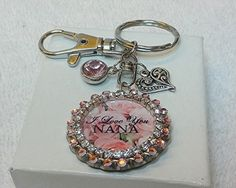 Nana Keychain Purse Charm Gift for Grandma by PegsEmbellishedGifts