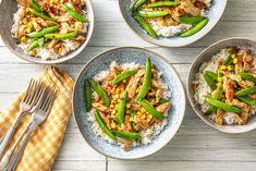 Ah, ginger and pork. Dancing across your taste buds tonight, this lip-smacking concoction in tasty oyster-soy sauce served on a bed of pillowy jasmine rice won't fail to have you swinging. Pork Strips, Ginger Pork, Hello Fresh Recipes, Pork Stir Fry, Sugar Snap Peas, Stir Fry Recipes, Fries