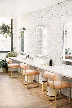 vanity area inside the wing co-working offices. / sfgirlbybay