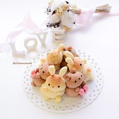 Valentines Day Bunny and Bear Pull Apart Bread