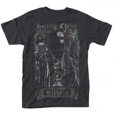 Officially licensed merch from Rotting Christ Ritual T-Shirt available at Rockabilia. Shop now Rotting Christ Ritual T-Shirt Rotting Christ, Christen, Branded T Shirts, Types Of Fashion Styles, Heavy Metal, Cool T Shirts, Fashion Brands, Man Shop, Mens Tops