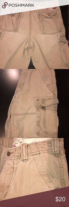 Men's cargo shorts Men's size 31 Hollister Long Cargo Shorts. Excellent condition. Worn one time. Hollister Shorts Cargo