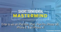 Short-Term Rental Mastermind Giveaway! http://cashflowdiary.com/giveaways/black-friday-mastermind-giveaway/?lucky=1019