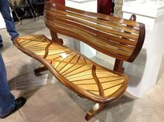 Nice wooden bench