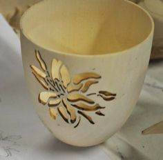 Pierced cup by visiting demonstrator Joey Richardson