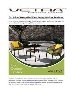 vetra furniture manufacturer supplier for premium outdoor furniture in india our specialize garden furniture - Garden Furniture Delhi