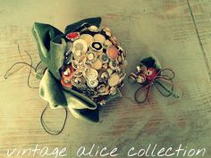 vintage button bouquet game of thrones theme by Vintagealice30, £200.00