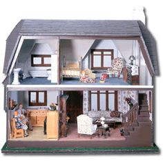 My dad built me this exact dollhouse when I was younger! I am going to do the same thing when my girls are bigger.