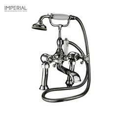 """Product image for Imperial Victorian 3/4"""" Bath Shower Mixer classic option with waterfall tap £279"""