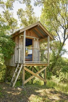 Marin Compound by Commune Design on Stairs And Staircase, Staircase Design, Spiral Staircases, Modern Staircase, Beautiful Tree Houses, Tree House Interior, Simple Tree House, Tree House Plans, House On Stilts