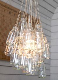DIY lamp by Katja Rinkinen. Instructions here http://parolanasema.blogspot.com/2011/02/kevattunteita-ja-kierratysvalaisin.html