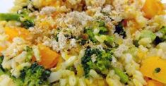 Brown Rice Risotto With Caramelized Onions, Squash and Broccoli Recipe
