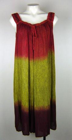 Strappy Tie Dye FESTIVAL Beachwear Boho Dress Size 8 - 16 Au