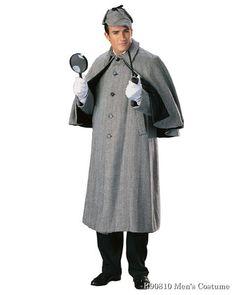 15cc6d5bda0 Regency Sherlock Holmes Capecoat Mens Costume. Deerstalker HatSpirit ...
