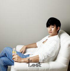 Kim Soo Hyun - Look Magazine Korean Star, Korean Men, Korean People, Korean Wave, New Actors, Actors & Actresses, Kang Haneul, My Love From Another Star, Hyun Kim