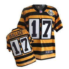 Nike Game Men's Pittsburgh Steelers #17 Mike Wallace 80th Anniversary Throwback NFL Jersey $79.99