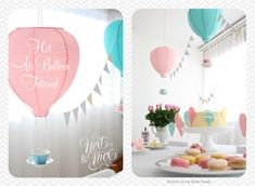 Materials: DUKTIG and VATEDescription: I used items from Ikea to create gorgeous hot air balloon decorations for a baby shower.  The tutorial is on my blog. Cli