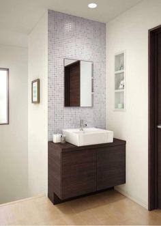 Pin by jay on 洗面台 Bathroom Basin Cabinet, Wash Basin Cabinet, Bathroom Tile Designs, Bathroom Design Small, Bathroom Interior Design, Washbasin Design, Indian Home Design, Interiors, Kitchen