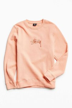 d53ccbad917c Stussy New Stock Crew Neck Sweatshirt New Mens Fashion, Teenager Outfits,  Red Hoodie,
