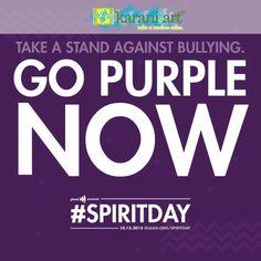 #KaraniArt apoya la iniciativa #SpiritDay contra el acoso por razones de identidad o condición sexual.