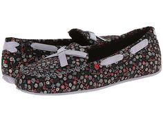 Womens Slippers UGG Belle Black Floral Suede