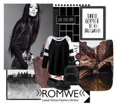 """""""ROMWE Raglan T-shirt"""" by sierrrrrra ❤ liked on Polyvore featuring Grandin Road, Urban Decay, AG Adriano Goldschmied, NYX, Sperry, 14th & Union, MAC Cosmetics, Americanflat, romwe and versatile"""