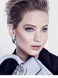 Jennifer Lawrence Poses with Be Dior Bag for Miss Dior Fall 2014 Ad Campaign