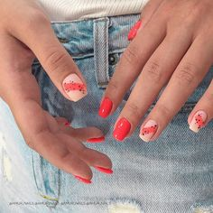 50 Trendy Red Nail Art Designs for Holiday : 50 Trendy Red Nail Art Designs for Holiday Stylish Nails, Trendy Nails, Cute Nails, My Nails, Bling Nails, Minimalist Nails, Nail Manicure, Nail Polish, Red Nail Art