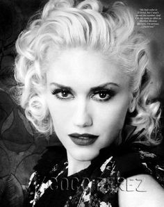 If I ever got extremely brave I would die my hair platinum blonde and cut it short Marilyn style. Gwen is looking beautiful as usual!