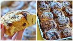 Rolinhos de canela [Receita em vídeo] Tapas, Muffin, Cookies, Breakfast, Desserts, Braised Cabbage, Carrot Cake, Dessert Food, Cinnamon Scrolls