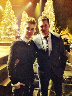 Micheal Buble and Justin Bieber I think my heart just melted a bit, just imagine if they sang together!
