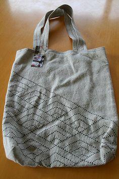 Ampliar foto cáñamo bolsa Sashiko handcraft shop MONO DE ESTILO
