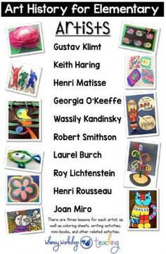 Art History and Writing Integration Art History 2 has easy lessons for busy teachers. Includes 30 lessons, teacher scripts to read aloud and photo instructions for the whole year. Middle School Art, Art School, High School, Primary School Art, Programme D'art, Georgia O'keeffe, Classe D'art, Art History Lessons, History Major