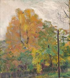 Bernhard Folkestad (1879–1933):  'Deciduous Trees in Fall Suit with Cuts', 1914