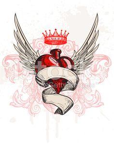 Tattoo Heart royalty-free stock vector art