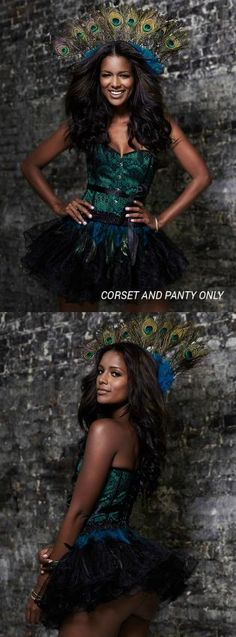 Strut your stuff in a DIY Peacock costume from Adore Me Lingerie! <3 (Headdress and tutu not included)