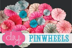 DIY Paper Pinwheels for party or background or gift wrapping- SohoSonnet Creative Living