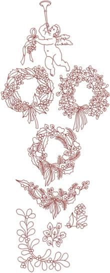 Advanced Embroidery Designs - Snowflake Bluework Set.