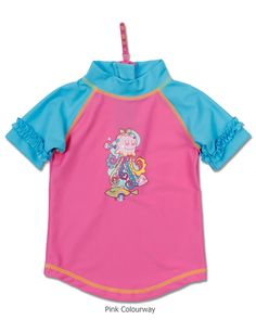 9030aa2e60e Short Sleeve Rash Top for Baby Girls by Bright Bots Make a splash this  summer with