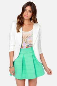 Feeling Lovesick Mint Green Bandage Skirt