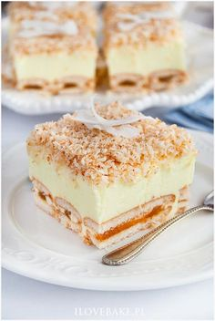 Ciasto śnieżny puch - I Love Bake Polish Desserts, No Bake Desserts, Pie Recipes, Sweet Recipes, Cooking Recipes, Icebox Cake, Homemade Cakes, Chocolate Desserts, Food To Make