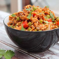 Lentil, red pepper and wild rice Jambalaya by @plantfuel_ 💛 Recipe ...