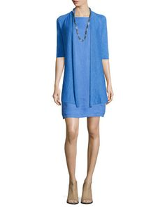 Washable Linen Dress by Eileen Fisher.