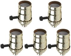 Creative Hobbies Quick Wire 3 Way Turn Knob Lamp Sockets Medium Base Push In Terminals Gold Shell Incandescent Replacement Lampholders Pack of 5 Sockets >>> Click image to review more details. This is Amazon affiliate link.