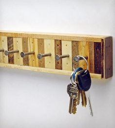 8-Hook Reclaimed Wood Key Holder   Home Decor   Six Finger Studios   Scoutmob Shoppe   Product Detail